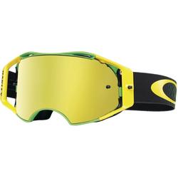 Oakley Goggles Airbrake MX Shockwave green/yellow iridium