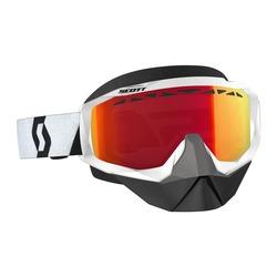 Scott Goggle Hustle Snow Cross black/white enh red chr