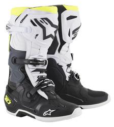 Alpinestars Saapas Tech 10 musta/valkoinen/kelt.