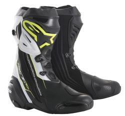 Alpinestars Saapas Supertech R, musta/valko/fl keltainen