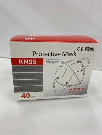 Hengityssuojain 40kpl KN95 FFP2 4PLY CE EN149:2001