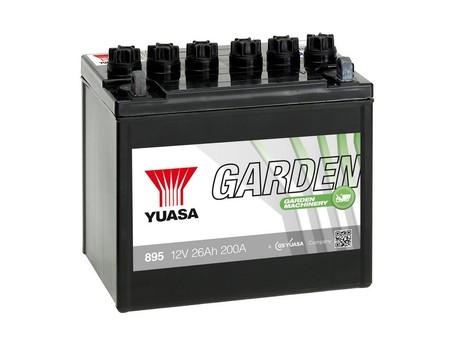 Yuasa 895 12V 26AH Garden (wc) Huom.Rullakkorahti