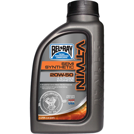 Bel-Ray V-Twin 20W-50 Semi-Synthetic Engine Oil 1L