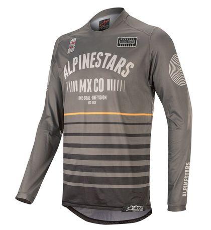 Alpinestars Racer Tech Flagship Paita tummanharmaa/musta/oranssi