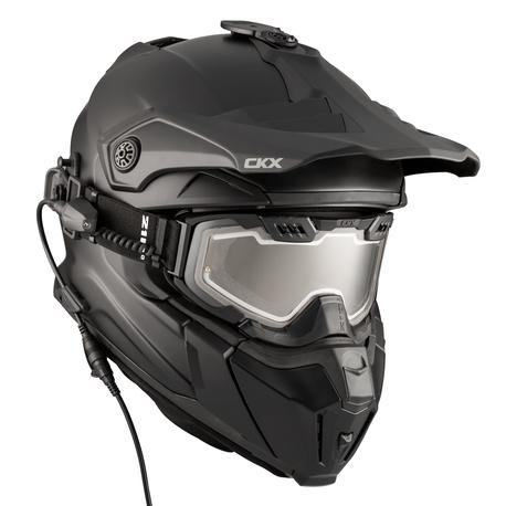 CKX Helmet + Goggles with electric lens TITAN Matt black | Duell Bike Center