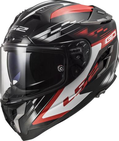 LS2 Helmet FF327 Challenger GP Black Red | Duell Bike Center